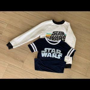 Star Wars Sweatshirt and Jersey T-Shirt Set